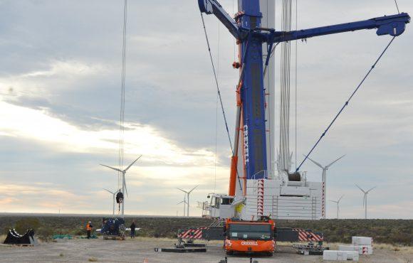 montaje de parque eolico en bahia blanca